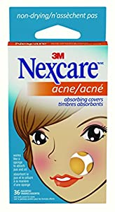 Nexcare Acne Absorbing Covers, 36 Assorted, AC-036