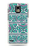 GRÃV Premium Case 'Abstract Tribal Pattern' Design for Huawei Ascend P1 U9200 (Best Quality Designer Print on White Hard Cover)