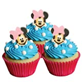 Mickey & Friends Minnie Mouse Bow Edible Cupcake & Cookie Toppers