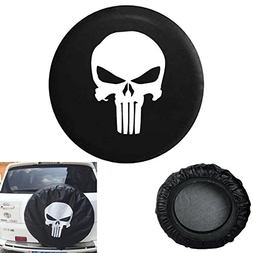 Jeep Spare Tire Cover Punisher Skull (17R) (Skull Jeep Spare Tire Cover compare prices)