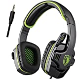 Sades - SA708 Stereo Gaming Headset - Xbox One (compatible w/ Xbox One controller w/ 3.5mm headset jack) and PS4