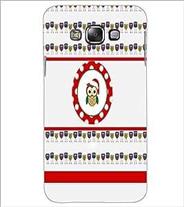 PrintDhaba Tiny Owl D-2779 Back Case Cover for SAMSUNG GALAXY E7 (Multi-Coloured)