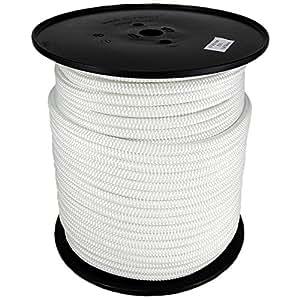 Polyesterseil Seil Polyester 3mm 100m Weiß Geflochten