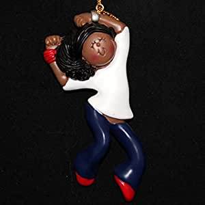 Ornament Central OC-184-FAA Female African/American Hip Hop Figurine