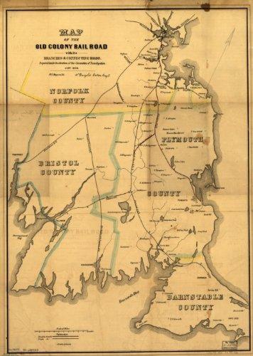 1850 Map Old Colony Railroad Company
