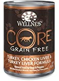 Wellness CORE Grain Free Turkey & Chicken Natural Wet Canned Dog Food, 12.5-Ounce Can (Pack of 12)