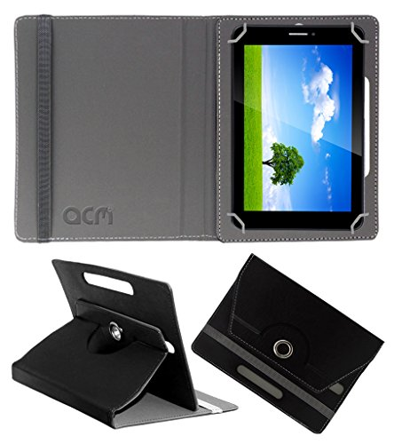 Acm Rotating 360° Leather Flip Case For Iball Slide 6351-Q40 Tablet Cover Stand Black  available at amazon for Rs.149