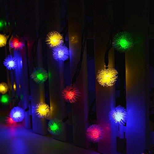 Gearmax® Alimentata solare impermeabile luci leggiadramente della stringa 4.8M 20 LED 2 Modalità Crystal Globe Natale lampada decorativa per scoperta, giardino, casa, Matrimonio,Albero di Natale Partito Nuovo Anno