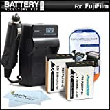 2 Pack Battery And Charger Kit For Fuji Fujifilm FinePix SL1000 SL300 S1 Digital Camera Includes 2 Extended Replacement...