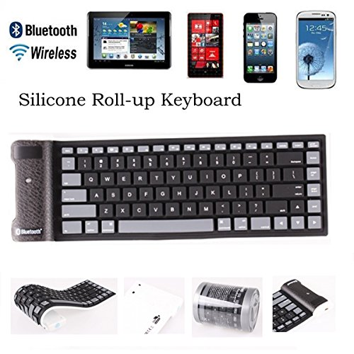 Roll Up Bluetooth Keyboard Android: Bluetooth 3.0 Version Silicon Flexible Foldable Keyboard For Ipad Tablet Laptop