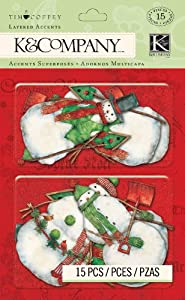 K&Company Layered Embellishments, Tim Coffey Christmas Icon