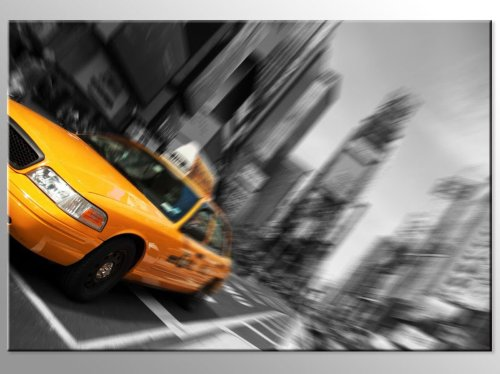 Bilderdepot24 Leinwandbild New York - 70x50cm - fertig gerahmt, direkt vom Hersteller