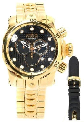 Invicta 13884 Reserve High Polished 52MM Venom Gold Bracelet Swiss Made Chronograph Watch w/Strap