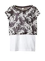 s.Oliver Camiseta Manga Corta (Azul Oscuro / Blanco)