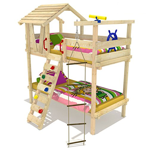 Wickey Lit superposé Lit mezzanine Lits enfant Jungle Hut Duo 90x200cm