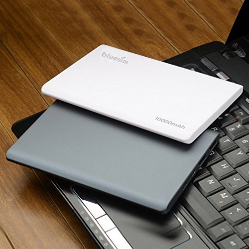 Portable-Charger-Bluesim-Power-Bank-Slim-10000mah-External-Battery-Dual-USB-Charger-Fast-Charging-for-Ipad-Air-Mini-Iphone-6s-6plus5csamsung-Galaxy-S5-S4-and-More-Devicewhite