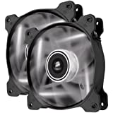 Corsair Air Series AF120 LED Quiet Edition High Airflow Fan Twin Pack - White (CO-9050016-WLED)