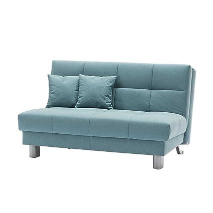 Schlafcouch in Blau Grun klappbar Breite 160 cm Höhe 85 cm Sitzplätze 3 Sitzplätze Pharao24