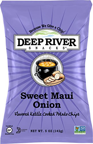 Deep River Snacks Kettle Chips, Sweet Maui Onion, 5-Ounce Bags (Pack of 12) (Deep River Kettle Chips Variety compare prices)