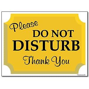 18 Quot X 24 Quot Corrugated Plastic Sign Do Not Disturb Sign