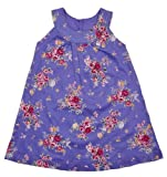 Girls Violet Floral Dress Age 2-10 Years