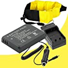 LI-50B Lithium Ion Replacement Battery w/Charger and Waterproof Floating Strap for Olympus Stylus Tough TG-610, Tough TG-810, Tough 6000, Tough 6020, Tough 8000, Tough 8010 DavisMAX Accessory Bundle