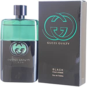 Gucci Guilty Black Pour Homme Eau de Toilette Spray for Men, 3 Ounce