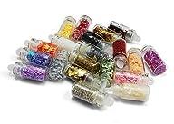 20 Types Nail Art Mini Glitter Sheets…