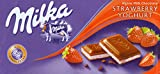 Milka Strawberry Yoghurt Original Chocolate 100g (5 Bars)