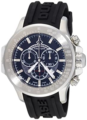 Chase-Durer Men's 380.2BB-RUBB Firestorm Chronograph Stainless Steel Rubber Strap Watch