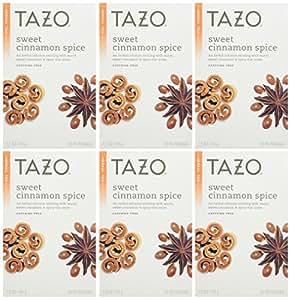 Tazo Sweet Cinnamon Spice Herbal Infusion Tea, Caffeine Free, 20-Count Tea Bags (Pack of 6)