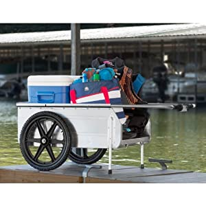 Amazon.com : Folding Marine Dock Cart Yard Wagon : Patio, Lawn