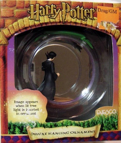 HARRY POTTER WITH WAND LOOKING INTO A MIRROR HANGING ORNAMENT by AFLOT2-TOY-HRRYPTTR-045544570008-N