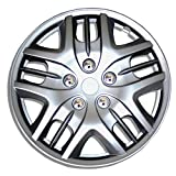 TuningPros WSC-025S16 Hubcaps Wheel Skin Cover 16-Inches Silver Set of 4