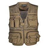 Panegy Men Professional Multi Pocket Outdoor Photography Director Fishing Vest