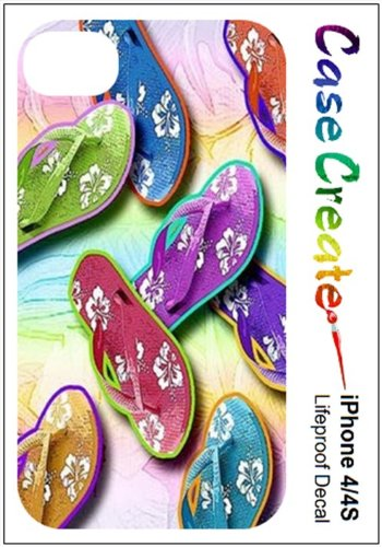 Flip Flops Sandals Decorative Sticker Decal For Your Iphone 4 4S Lifeproof Case front-491882