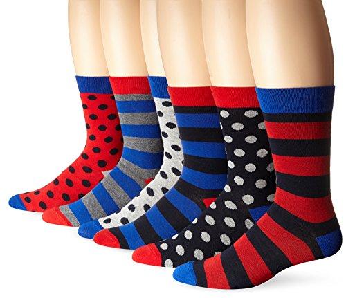 ben-sherman-mens-6-pack-frederick-crew-socks-multi-color-9-12-pack-of-6