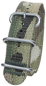 Bertucci DX3b-64mc 22mm 2plis Motif camouflage MultiCam W/Nano en nylon bande de montre