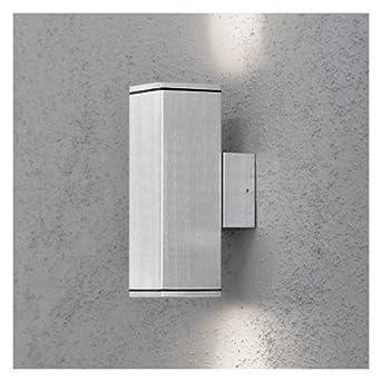 Applique exterieur double cubo cubo gris clair for Luminaire exterieur double