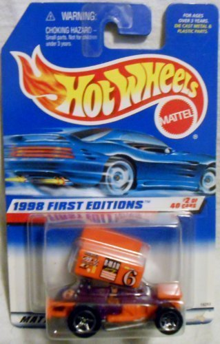 Hot Wheels - 1998 First Editions - Slideout - Sprint Car - Purple & Orange - Die Cast - #2 of 40 Cars - Collector #640 - Limited Edition - Collectible - 1