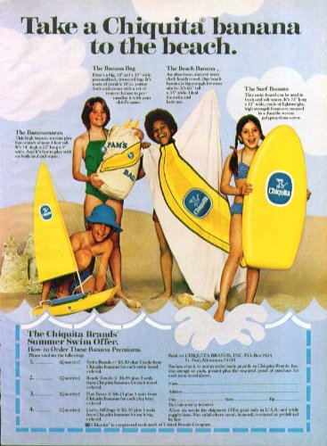 take-a-chiquita-banana-to-the-beach-offer-ad-1978