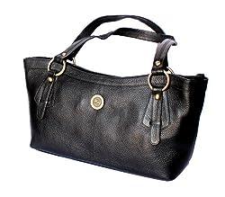 Stonkraft Womens Shoulder Bag (Black) (LthrShldrBlkBag18)