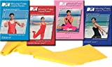 Exercise Videos by Mirabai Holland Get You Off The Couch Moving Free Longevity Solution DVD 4 Pack INCLUDING 4 ft Resistance Band For Beginners, Boomers, ... Increase Stamina, Get Flexible & Body Sculpt