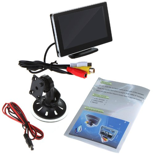 """4.3"""" Color Tft Lcd Car Rearview Monitor For Dvd Camera Vcr Super Slim"""