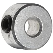 Climax Metal C-009 Shaft Collar, One Piece, Set Screw Style, Zinc Plated Steel
