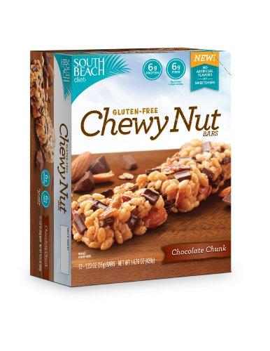 South Beach Diet Gluten Free Chewy Nut Bars, Nut Crunch, 1.23 Ounce, 12 Count