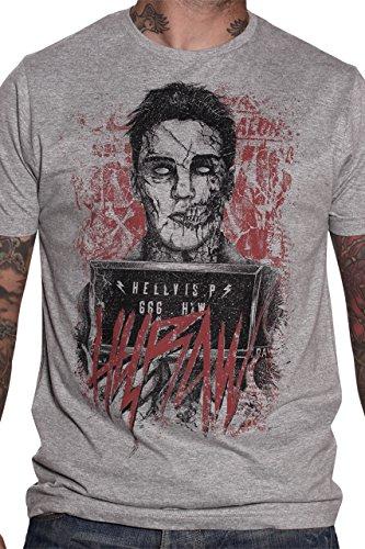 Hyraw -  T-shirt - Uomo grigio Small
