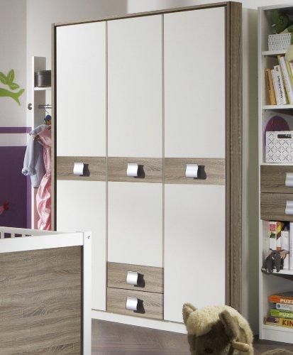 Kleiderschrank »EMMA« in alpinweiß – Eiche Dekor kaufen