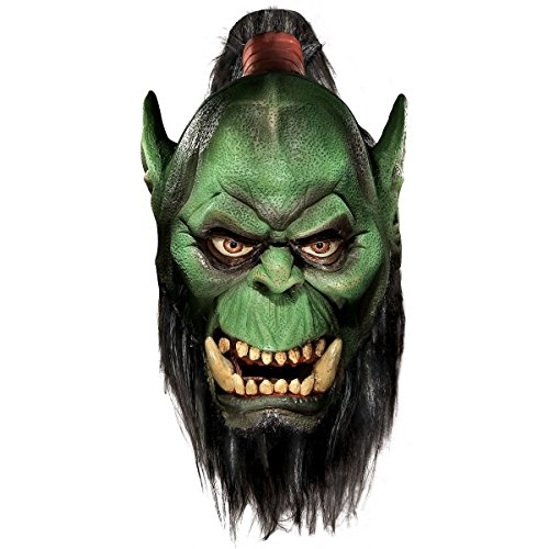 GSG Orc Mask with Beard World of Warcraft Adult WOW Halloween Costume Acsry