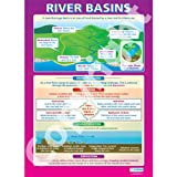 River Basins Geography Educational Wall ChartPoster in laminated paper A1 850mm x 594mm